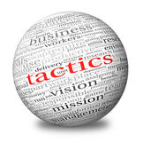 Business tactics in word tag cloud — Stock Photo