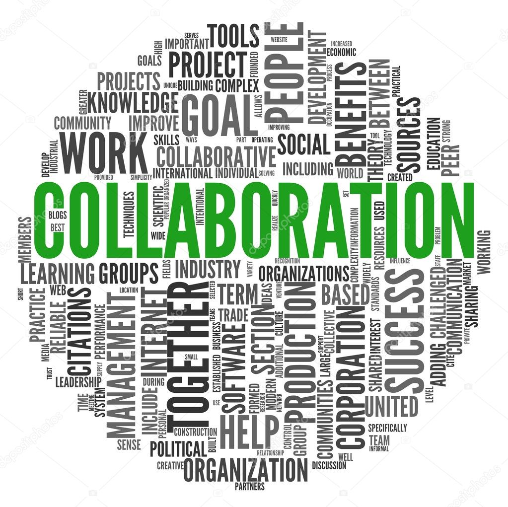 Collaborative Teaching Concepts ~ Collaboration concept in word tag cloud — stock photo