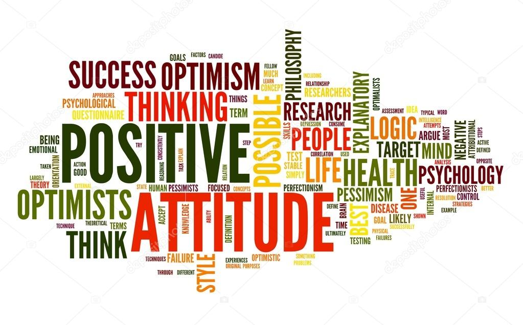 Positive attitude concept in word tag cloud on white background  Stock Photo #12226391