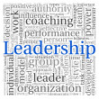 Leadership concept in word tag cloud on white background — Stock Photo #13205654