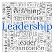 Leadership concept in word tag cloud on white background — Stockfoto