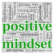 Positive mindset concept in word tag cloud on white background  — Stock Photo