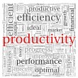Productivity concept in word tag cloud on white background  — Photo