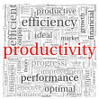 Stock Photo: Productivity concept in word tag cloud on white background