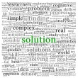 Solution concept in word tag cloud on white background — Stockfoto