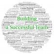 Stock Photo: Building a Successful Team concept in word tag cloud on white background