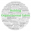Royalty-Free Stock Photo: Building Organizational Talent concept in word tag cloud on white background