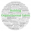Stock Photo: Building Organizational Talent concept in word tag cloud on white background