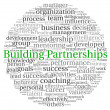 Stock Photo: Building Partnerships concept in word tag cloud on white background