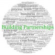 Building Partnerships concept in word tag cloud on white background — Stok fotoğraf