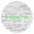 Building Trust concept in word tag cloud on white background — Stok fotoğraf