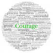 Courage concept in word tag cloud on white background — Stock Photo