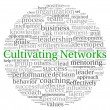 Cultivating Networks concept in word tag cloud on white background - Stock Photo