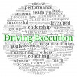 Stock Photo: Driving Execution concept in word tag cloud on white background