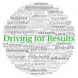 Driving for Results concept in word tag cloud on white background — Stok fotoğraf