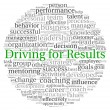 Driving for Results concept in word tag cloud on white background — Stock Photo #13205954