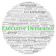 Executive Demeanor concept in word tag cloud on white background — Stok fotoğraf