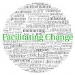 Facilitating Change concept in word tag cloud on white background — Stock Photo