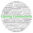 Gaining Commitment concept in word tag cloud on white background  — Stock Photo