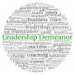 Leadership Demeanor concept in word tag cloud on white background — Stok fotoğraf