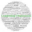 Leadership Disposition concept in word tag cloud on white background — Stock Photo