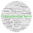 Organizational Savvy concept in word tag cloud on white background — Stok fotoğraf