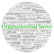 Stock Photo: Organizational Savvy concept in word tag cloud on white background