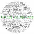 Planning and Organizing concept in word tag cloud on white background — Stock Photo