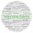 Selecting Talent concept in word tag cloud on white background — Stock Photo