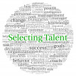 Постер, плакат: Selecting Talent concept in word tag cloud on white background