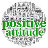 Positive attitude concept in word tag cloud on white background — Stock Photo