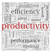 Productivity concept in word tag cloud on white background — Stock Photo