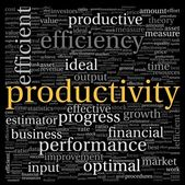 Productivity concept in word tag cloud on black background — Stock Photo
