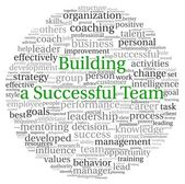Building a Successful Team concept in word tag cloud on white background — Stock Photo