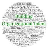 Building Organizational Talent concept in word tag cloud on white background — Stock Photo