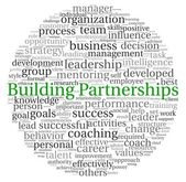 Building Partnerships concept in word tag cloud on white background — Stock Photo