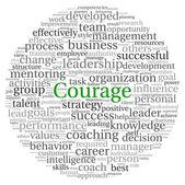 Odvahu koncept v slovo tag cloud na bílém pozadí — Stock fotografie