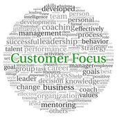 Customer Focus concept in word tag cloud on white background — Stock Photo