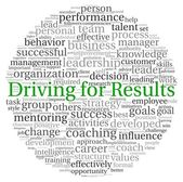 Driving for Results concept in word tag cloud on white background — Stock Photo