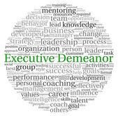 Executive Demeanor concept in word tag cloud on white background — Stock Photo