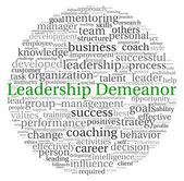 Leadership Demeanor concept in word tag cloud on white background — Stock Photo
