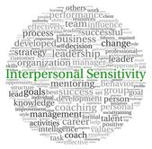 Interpersonal Sensitivity concept in word tag cloud on white background — Stock Photo