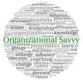 Organizational Savvy concept in word tag cloud on white background — Stock Photo
