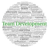 Team Development concept in word tag cloud on white background — Stock Photo