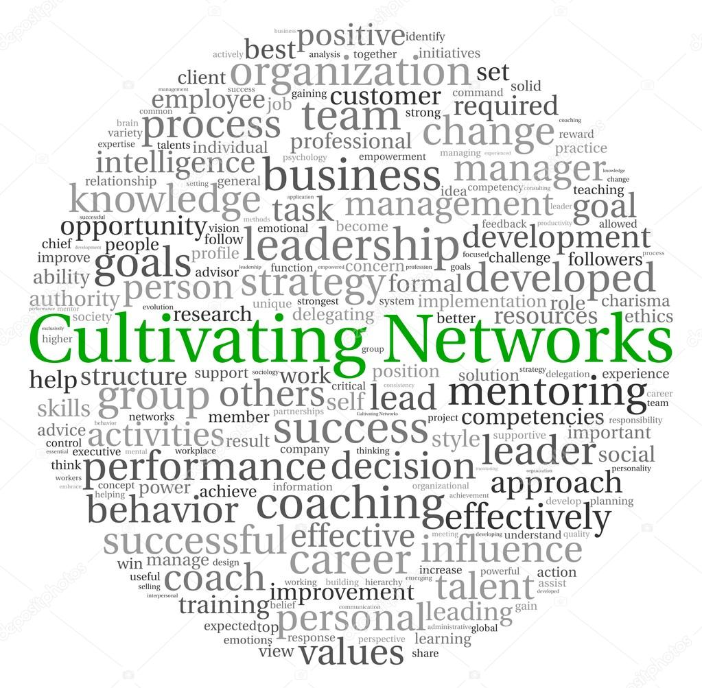 Cultivating Networks concept in word tag cloud on white background  — Stock Photo #13205934