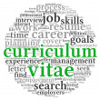 Curriculum vitae concept in word tag cloud — Stock Photo #13421286