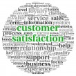 Customer satisfaction concept in word tag cloud on white — Zdjęcie stockowe