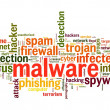 Stock Photo: Malware concept in word tag cloud on white background