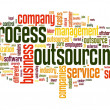 Process outsourcing concept in word tag cloud on white background — Stock Photo #13421520