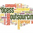 Stock Photo: Process outsourcing concept in word tag cloud on white background